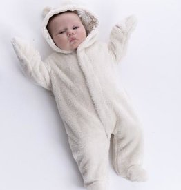 Magnetic Me Magnetic Me Fleece Snowsuit Bunting Cream