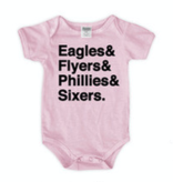 Urban Smalls Eagles/Flyers/Phillies/Sixers Pink Bodysuit
