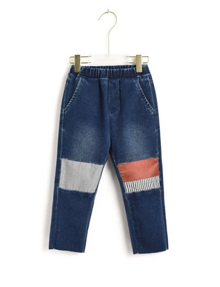 Aimama Aimama Contrasting Knee Jeans