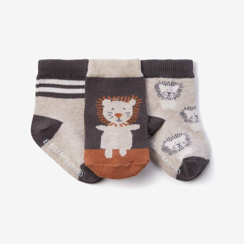 Elegant Baby Elegant Baby Socks 3 Pack Lion