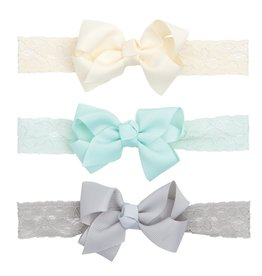 Elegant Baby Elegant Baby 3-Pack Lace Headbands