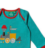 Little Green Radicals Little Green Radicals Sky Train Applique Long Sleeve Tee