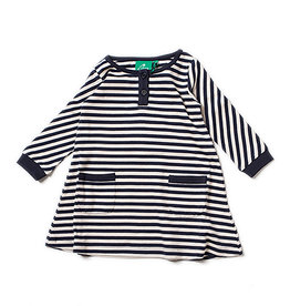 Little Green Radicals Little Green Radicals Navy Stripes Playaway Dress