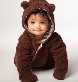Magnetic Me Magnetic Me Fleece Snowsuit Bunting Mocha