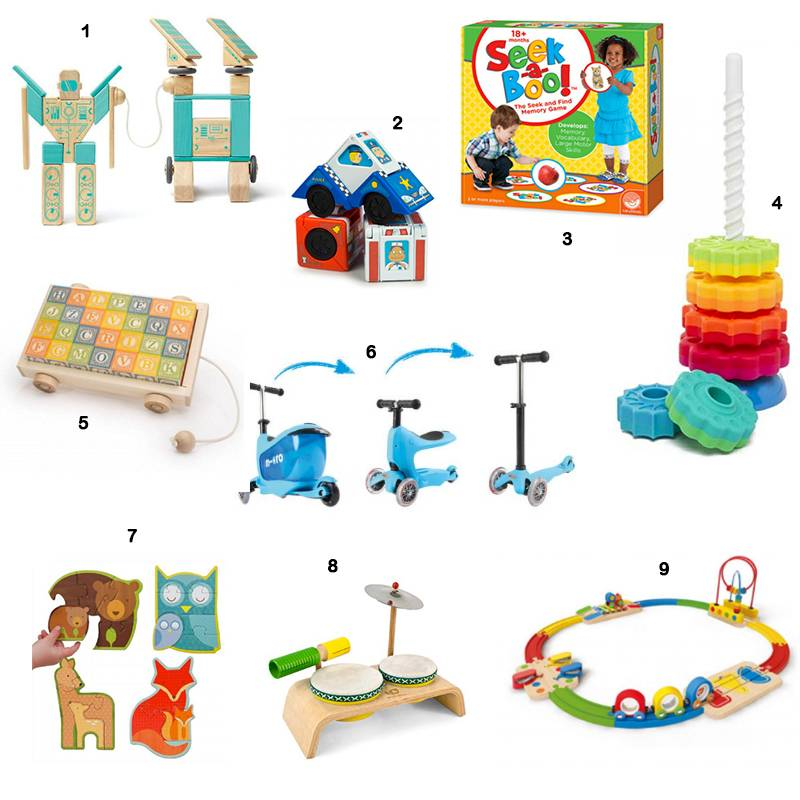 Top Nine Gifts for Toddlers