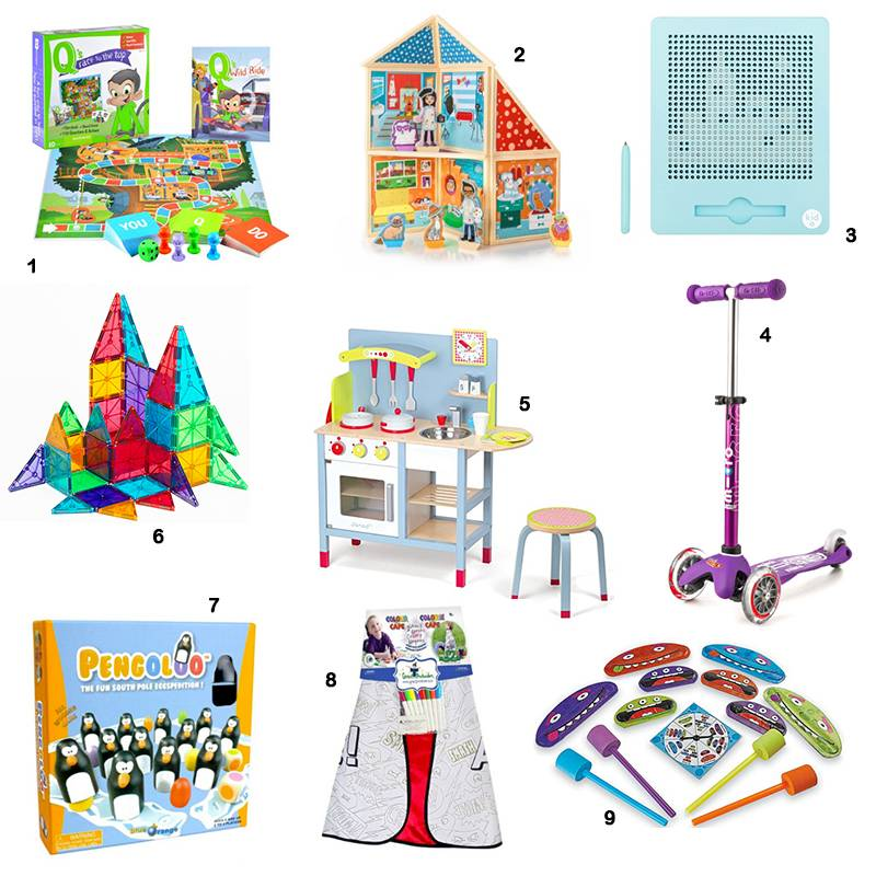 Top Nine Gifts for Preschoolers