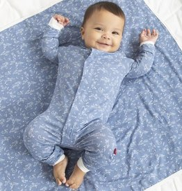Magnetic Me Magnetic Me Blue Sky Bunny Coverall Pajamas