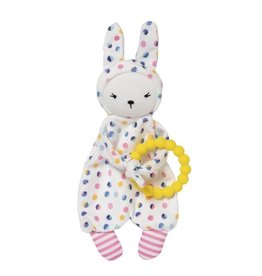 Manhattan Toy Cherry Blossom Baby Bunny Lovey and Teether