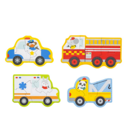Petit Collage Beginner Puzzle- Rescue Vehicles