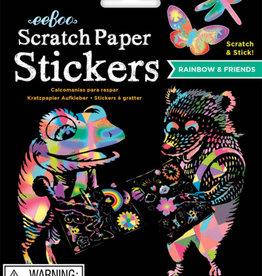 eeBoo Scratch Paper Stickers Rainbow