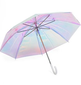 White Holographic Umbrella