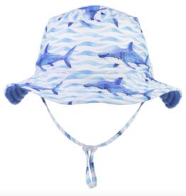 Snapper Rock School of Sharks Reversible Bucket Hat