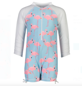 Snapper Rock Flamingo Social LS Sunsuit
