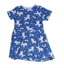 My Sweet Bamboo Sweet Bamboo Swirly Unicorn Galaxy Dress