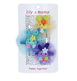 Lily & Momo Lily & Momo Cotton Tail Trio Hair Clips