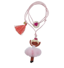 Lilies & Roses Lilies & Roses Ballerina Necklace Pale Pink