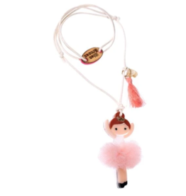 Lilies & Roses Lilies & Roses Ballerina Necklace Blush