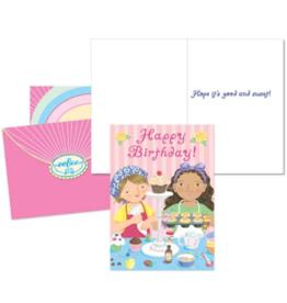 eeBoo Birthday Cupcakes Card