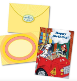 eeBoo Fireman and Spot Birthday Card