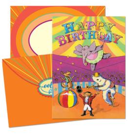 eeBoo Circus Birthday Card