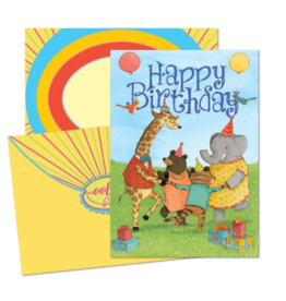 eeBoo Happy Days Birthday Card