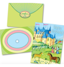 eeBoo Provincial Castle Birthday Card