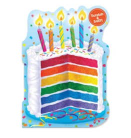 Peaceable Kingdom Card Rainbow with Stickers