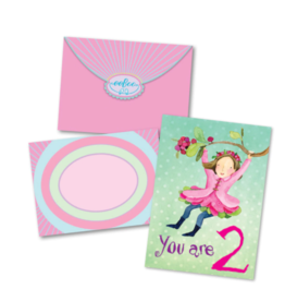 eeBoo Sweet Fairy 2 Bday Card