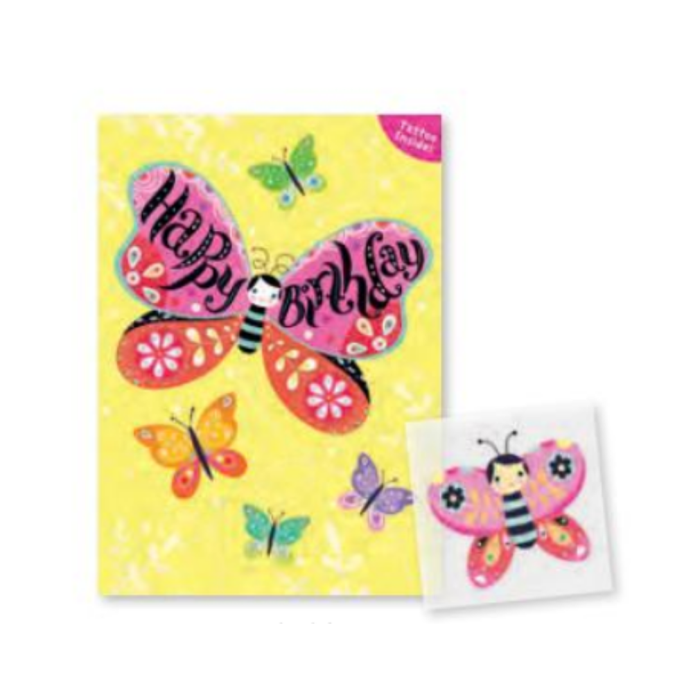 Peaceable Kingdom Tattoo Card- Butterfly
