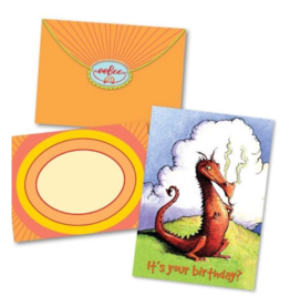 eeBoo Sassy Dragon Bday Card