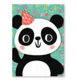 Peaceable Kingdom Card- Panda Flocked