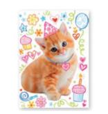 Peaceable Kingdom Card- Glitter Cat