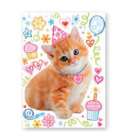 Peaceable Kingdom Card- Glitter Cat