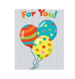 Peaceable Kingdom Balloons Foil Gift Enclosure