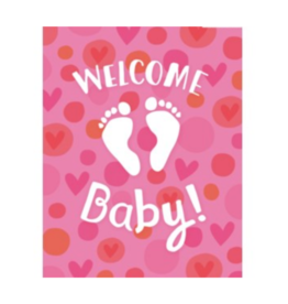 Peaceable Kingdom Enclosure Welcome Baby Girl