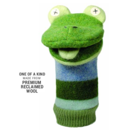 Cate and Levi Wool Puppet - Frog