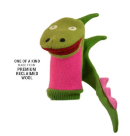 Cate and Levi Wool Puppet - Dragon