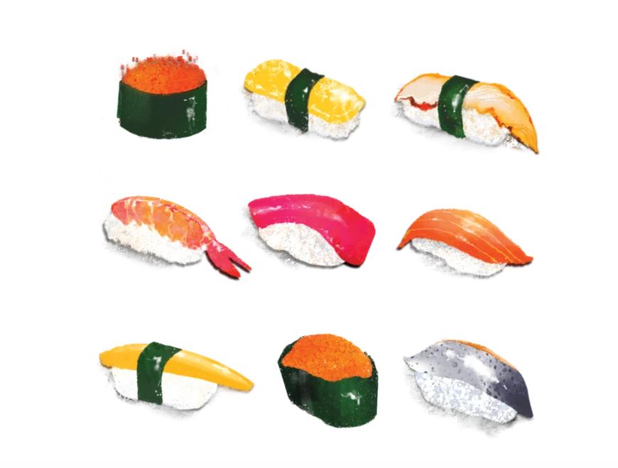 Tattly Tattly Sushi Platter