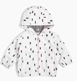 Miles Baby White Play Block Rain Jacket