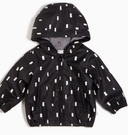 Miles Baby Black Play Block Rain Jacket
