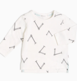 Miles Baby Off-White Scooter Long Sleeve Top