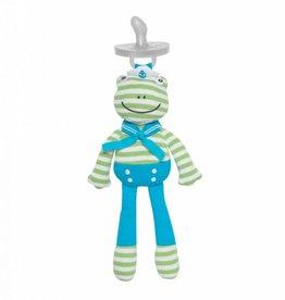 Organic Pacifier Buddy- Skippy Frog