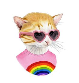 Tattly Rainbow Kitten
