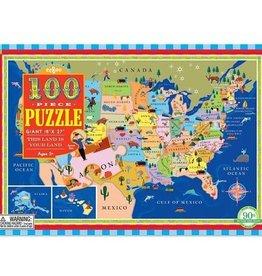 eeBoo USA Map 100-pc Puzzle