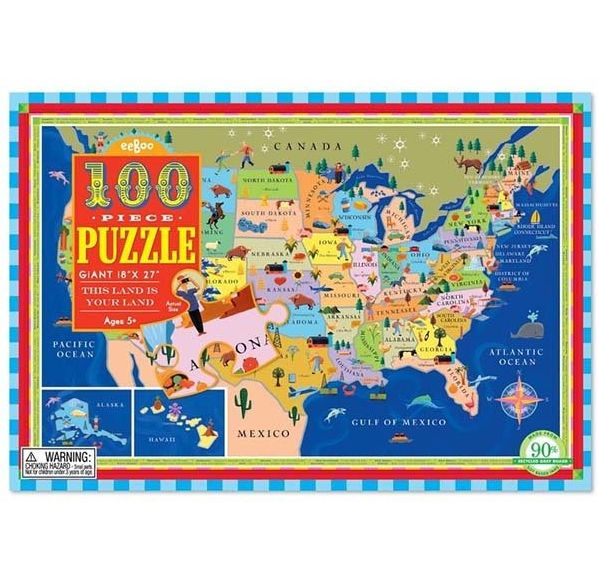 USA Map 100-pc Puzzle - Momo\'s Tree House