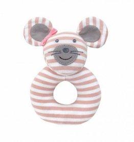 Apple Park Organic Teething Rattle- Ballerina Mouse