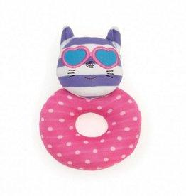 Apple Park Organic Teething Rattle- Catnap Kitty