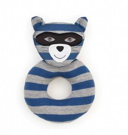 Apple Park Organic Teething Rattle- Robbie Raccoon