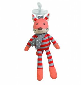 Apple Park Organic Pacifier Buddy- Frenchy Fox