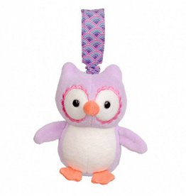Apple Park Organic Stroller Toy- Purple Owl